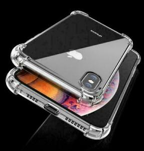 CLEAR Shockproof Case iPhone 12/11 Pro Max XR X XS 8 7 6 SE 2 Max Edge Silicone