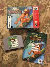 Disney's Tarzan (Nintendo 64, 2000) Complete In Box Tested !!