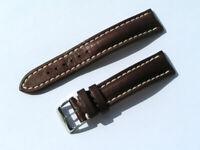 20mm Breitling 431X Band 20/18 Kalb braun brown Strap mit Dornschliesse 067-20