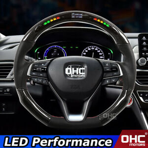 Real Carbon Fiber LED Performance Steering Wheel for Honda Accord 2018 2019 2020