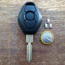 BMW 3 BUTTON Remote Key Fob Case E38 E39 E36 E46 HU58 3 5 Z3 FULL REPAIR KIT