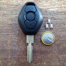 BMW 3 BUTTON Remote Key Fob Case E38 E39 E36 E46 HU58 3 5 Z3 FULL REPAIR KIT