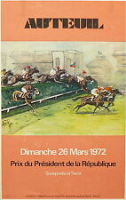 Affiche quadri Prix du Président de la République courses 1972 Auteuil  P 747