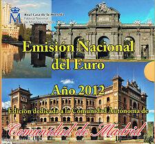 SPANJE - BU SET 2012 - MADRID (10 MUNTEN + PENNING)