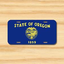 Oregon State Flag License Plate Vehicle Auto Tag Salem Portland FREE SHIPPING