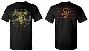 VENOM cd cvr WELCOME TO HELL Official SHIRT SMALL New lord satan's left hand