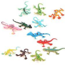 Gecko Small Plastic Lizard Simulation Reality Decor Childrens Toys 12 Pcs A1n4