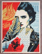 Obey Wrong Path Print by Shepard Fairey signed and numbered