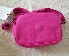 Kipling Nylon Dee Crossbody Messenger Shoulder Bag Breezy Pink Monkey Keychain