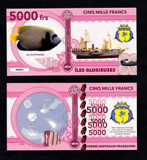 ILES GLORIEUSES ● TAAF / COLONIE ● BILLET POLYMER 5000 FRANCS ★ N.SERIE 000003