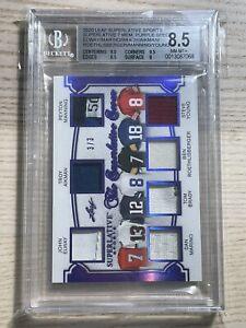 TOM BRADY Peyton Manning Dan Marino Jersey Patch 2020 Leaf BGS 8.5 NM-MINT 3/3