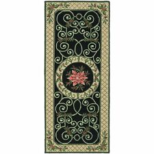 Safavieh Chelsea Irongate Green / Beige Wool Runner 2' 6 x 6'