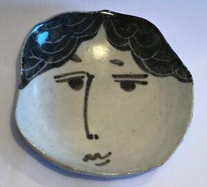 Vallauris Schale mit Gesicht signiert