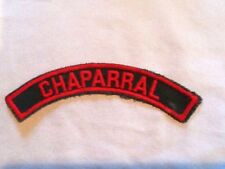 CHAPARRAL, Shoulder ID Strip 1960-1980 Official Girl Scout Insignia Combine Ship