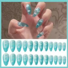Blue Sky Natural False Nail Tips With Glue Fake Nails Full Cover Manicure Tool