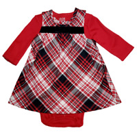 *NWT- CARTER'S - BABY GIRL'S 2-PC PLAID DRESS SET - SIZE: 0-3M - 6-9M