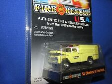 1959 ford f250 st charles IL fire dept 59 SERVICE  patrol Racing champions 1:64