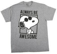 Vintage Charlie Brown Snoopy Peanuts Always Be Awesome Cartoon T-Shirt New Tee