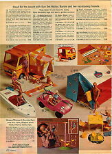 1972 ADVERT Malibu Barbie Skipper Ken Dune Buggy Crissy Doll Brandi