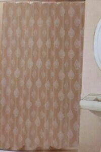 "Hotel Luxury Taupe Fabric Shower Curtain 72"" x 72"" NIP"