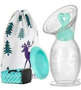 BumbleBee Manual Breast Pump 5oz/150ml with Suction Base, Silicone Breastfeeding