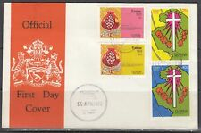 Guyana Scott 176-9 FDC - 1973 Easter Issue