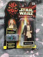 Star Wars Episode 1 Qui-Gon Jinn with CommTalk Chip and LightSabre