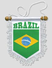 FANION VOITURE BRESIL FOOTBALL 13 X 15 CM BLASON