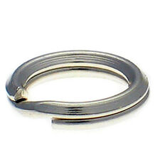 10 Sterling 925 British Silver 7mm Heavy Weight Split Link Charm Rings