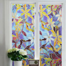 Stained Glass Window Film Self Adhesive Sticker Shower Door Privacy Home Decor