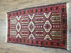 "Semi Antique Collectible Balouchi Tribal Rug Small Turkoman Rug 2'2"" x 3'6"""