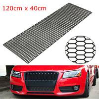 40cm x 120cm Universal Honeycomb Vent ABS Plastic Car Tuning Grill Mesh Black