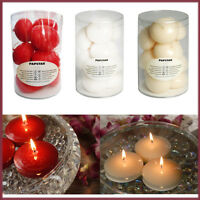 10 Floating Candles Water Tealight Candle Wedding Party Decor Unscented Colour