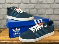ADIDAS ORIGINALS ETRUSCO MENS UK 7 EU 40 2/3 NAVY, RED SUEDE TRAINERS T