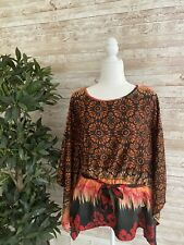 LUCKY & COCO Women's Shirt Mumu Tunic Dolman Sleeve Cover-up Blouse Caftan LARGE