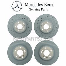 Mercedes W205 C300 C400 Pair Set of 2 Front & Rear Vented Brake Discs Rotors OES