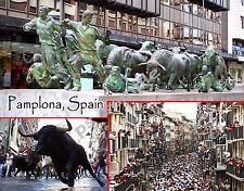 Spain - PAMPLONA Running of the Bulls - Travel Souvenir FRIDGE MAGNET