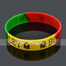 BOB Marley Silicone Wristbands Bracelet Rubber Bangle Sports  for Men Women 1Pc