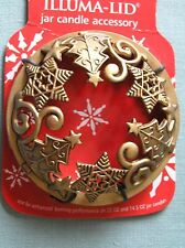 Yankee Candle Gold Christmas Tree Star Illuma Lid Topper New Free Shipping