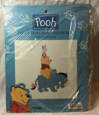 NOS Winnie the Pooh 'Stacked Pooh' Leisure Arts Counted Cross Stitch Kit- NIP