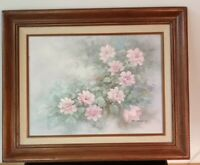 ORIGINAL A. HERBERT Floral Oil Painting on 12x16 Canvas. Signed and Framed