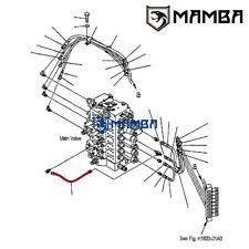 MAMBA PC200-7 PPC Main Line Hose 02760-00204 for KOMATSU Excavator