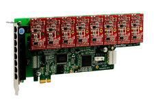 OpenVox A800E08 8 Port Analog PCI-E Base card + 0 FXS + 8 FXO, Ethernet (RJ45)