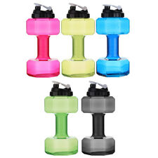 2.2L Water Bottle Sports Gym Jug Dumbbell Dumbell Shaped Workout Fitness Protein