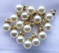 Fashion Acrylic Pearl Rhinestone Pendant Charms Jewelry DIY Findings
