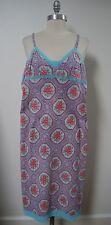 NEW DOSA floral print cotton slip dress with fine lace trim and hem size 1 XS S