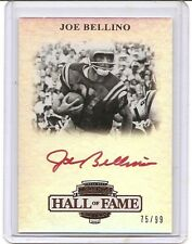 2012 Press Pass Legends Hall of Fame Edition Joe Bellino Red Ink Auto Card /99