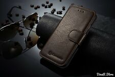 Housse de protection pour apple iphone 5 5S coque étui portefeuille - Marron (