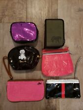 Lot of 6 Various Small Cosmetic Bags in good condition.