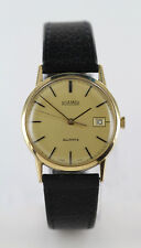 GENTS ROAMER 9ct GOLD CASED QUARTZ WRISTWATCH WITH DATE APERTURE
